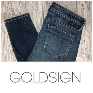Goldsign | Glam Skinny Crop Ankle Jeans (Size 31)